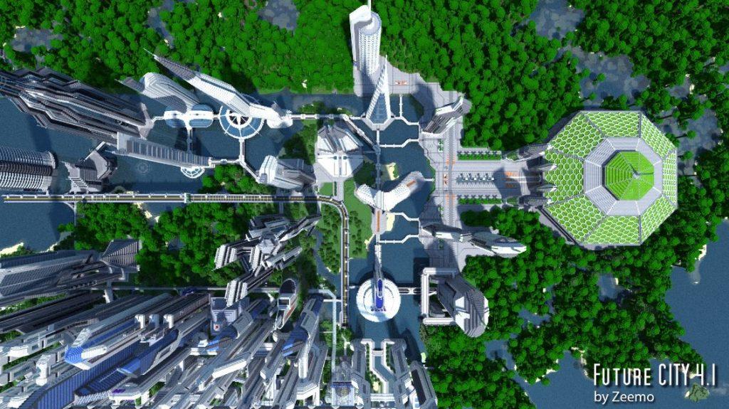 minecraft map ville future city 4.1 serre horticole