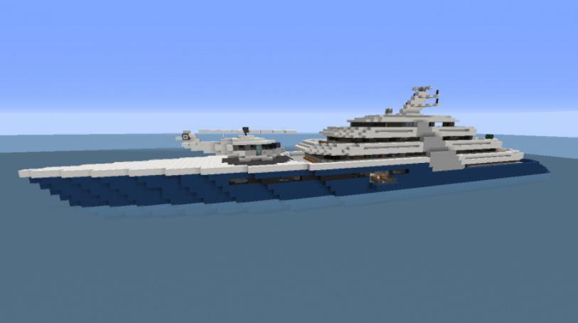 Minecraft Modern Mega Yacht interieur complet