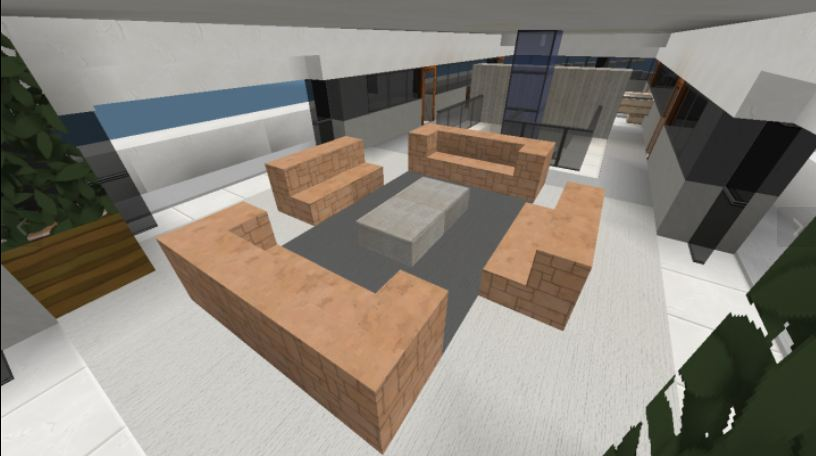 Minecraft Modern Mega Yacht interieur