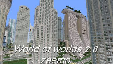 minecraft map ville world of wolds 2.8