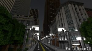 minecraft map ville world of worlds 2.8 nuit