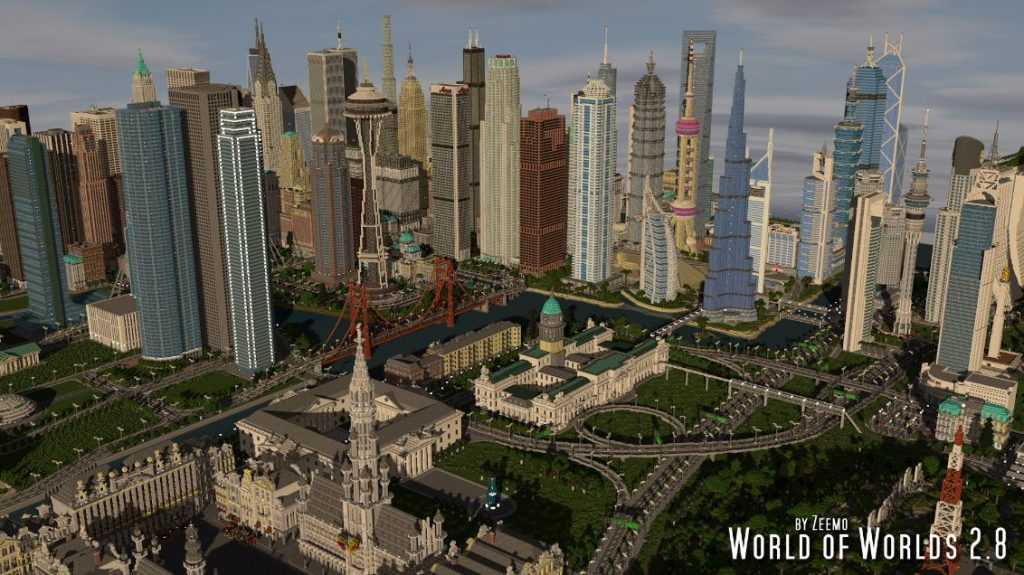 minecraft map ville world of worlds 2.8 zeemo