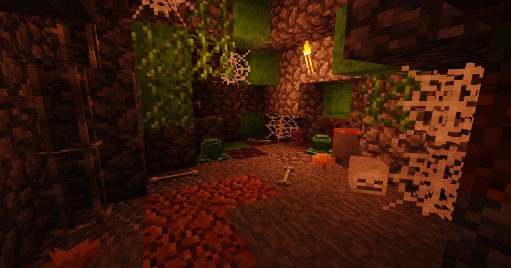 minecraft mod placeable item decoration caverne