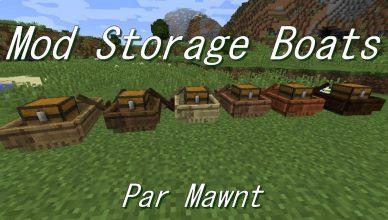 Minecraft mod coffre pour bateau storage boats