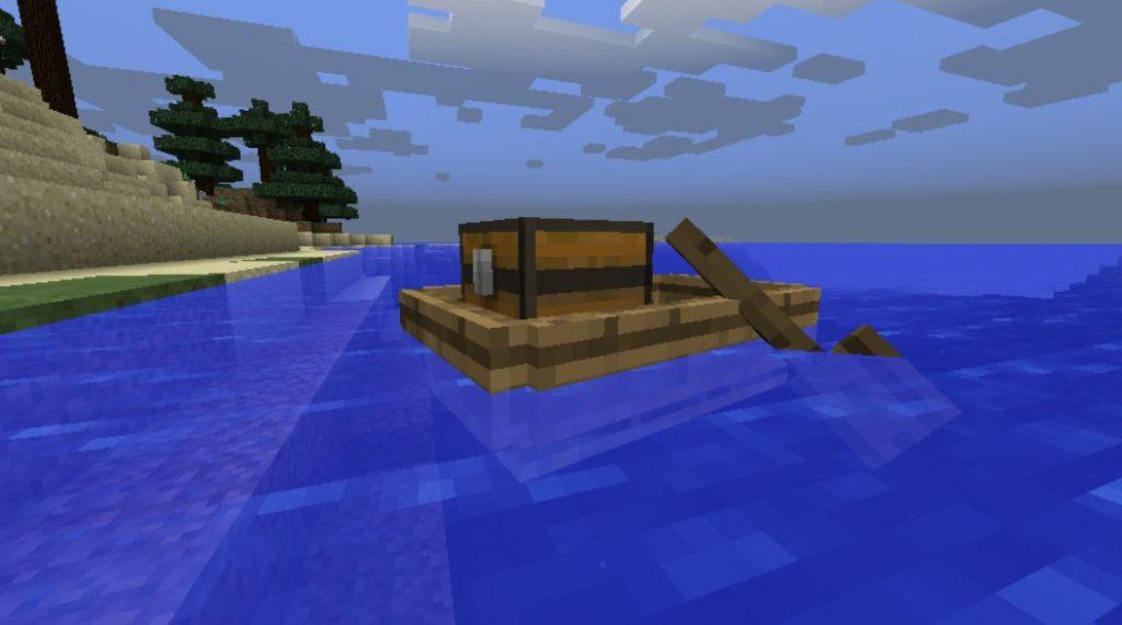 Minecraft mod storage boats coffre pour bateau