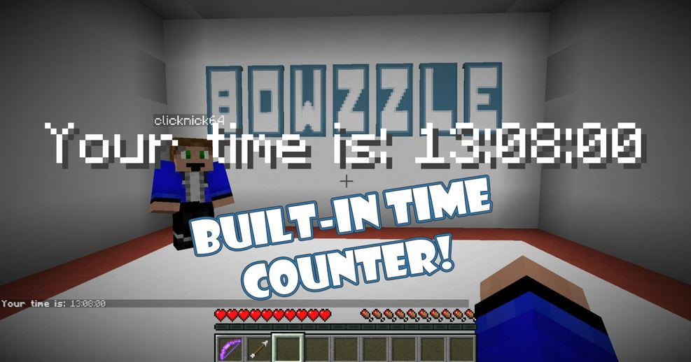 minecraft map solo parcours puzzle 1.11.2 bowzzle parcours chronométré
