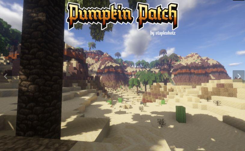 minecraft texture pack pumpkin patch 32×32 biome désertique