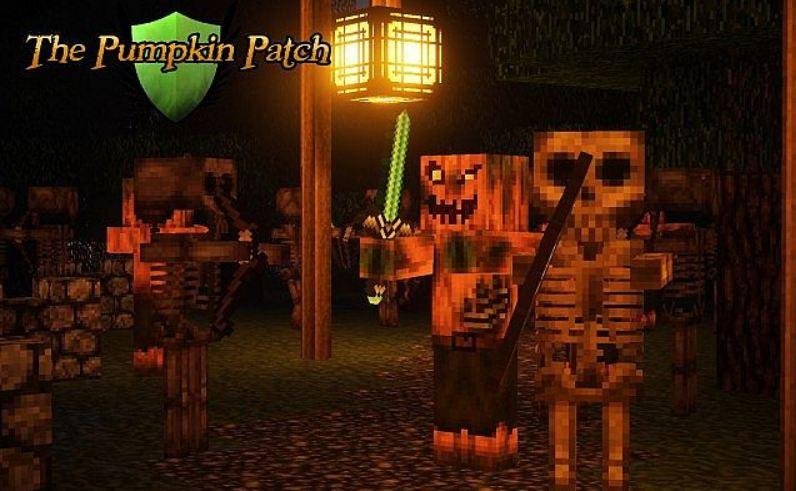 minecraft texture pack pumpkin patch 32×32 monstres