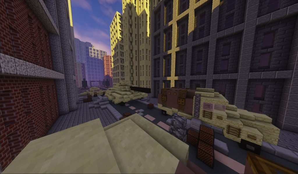 minecraft map pve zombie epidemic arène ville