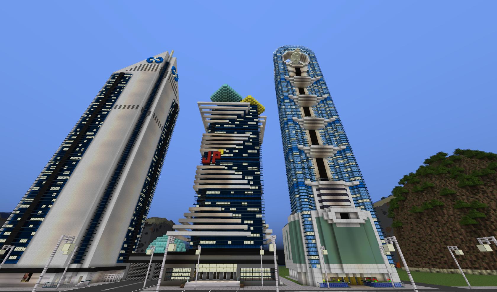 Map-ville-newcraft-vecter-city-minecraft-building
