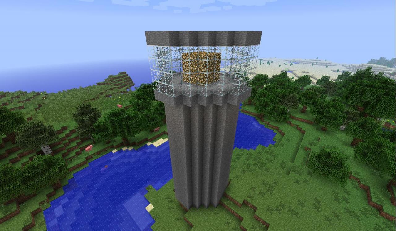 Minecraft-mod-instant-massive-structure-phare
