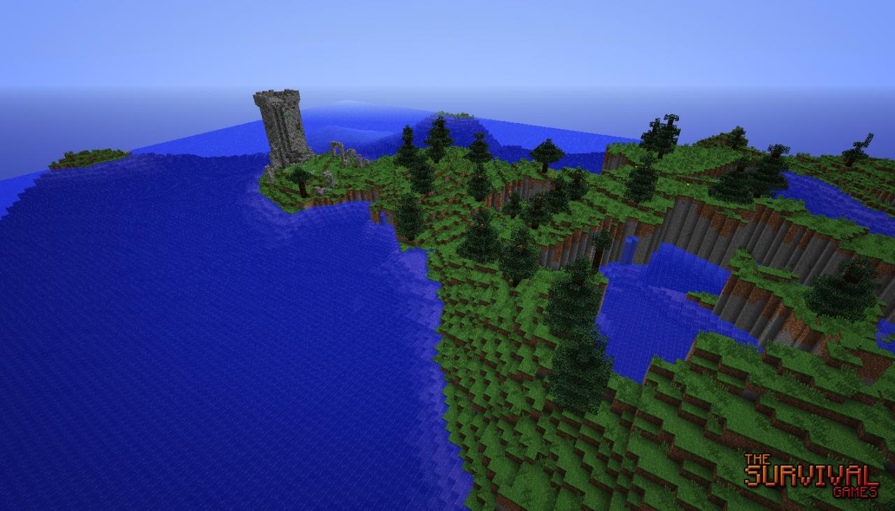 Minecraft-Map-aventure-survie-the-survival-games-nature