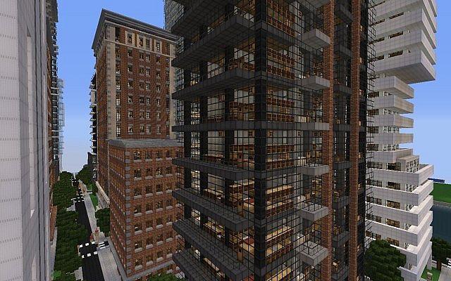 Minecraft-ville-moderne-New-Crafton-building