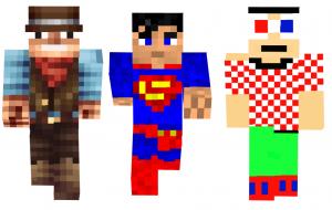 minecraft-comment-changer-skin-superman-fou-cow-boy