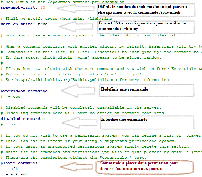 minecraft-configurer-essential-commande