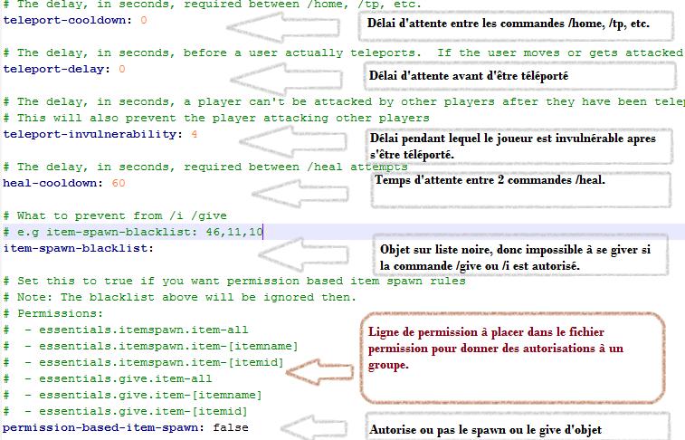 minecraft-configurer-essential-definir-tp