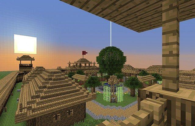minecraft-map-village-jangan-asiatique-bois