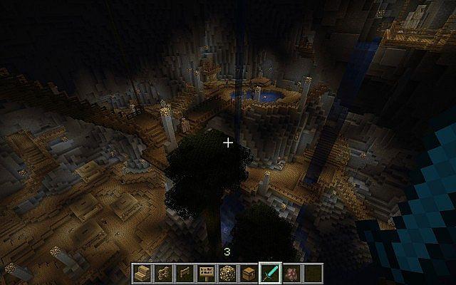 minecraft-map-ville-souterraine-lac