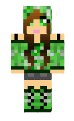 minecraft-skin-creeper-fille