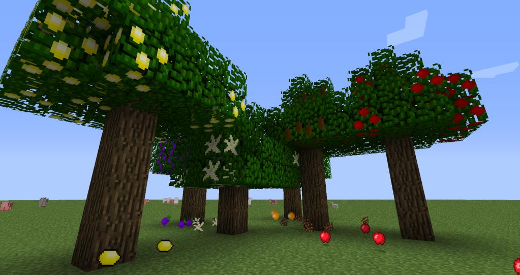 172 майнкрафт мод на фруктовые деревья