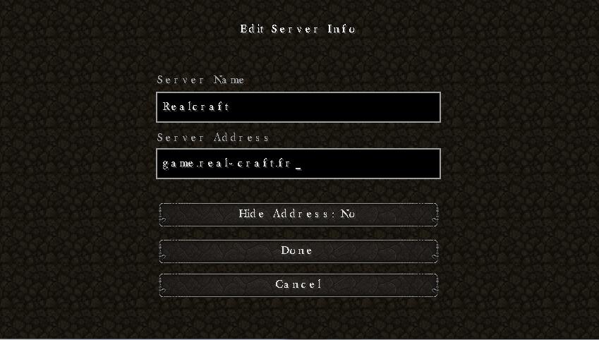Dating server minecraft IP