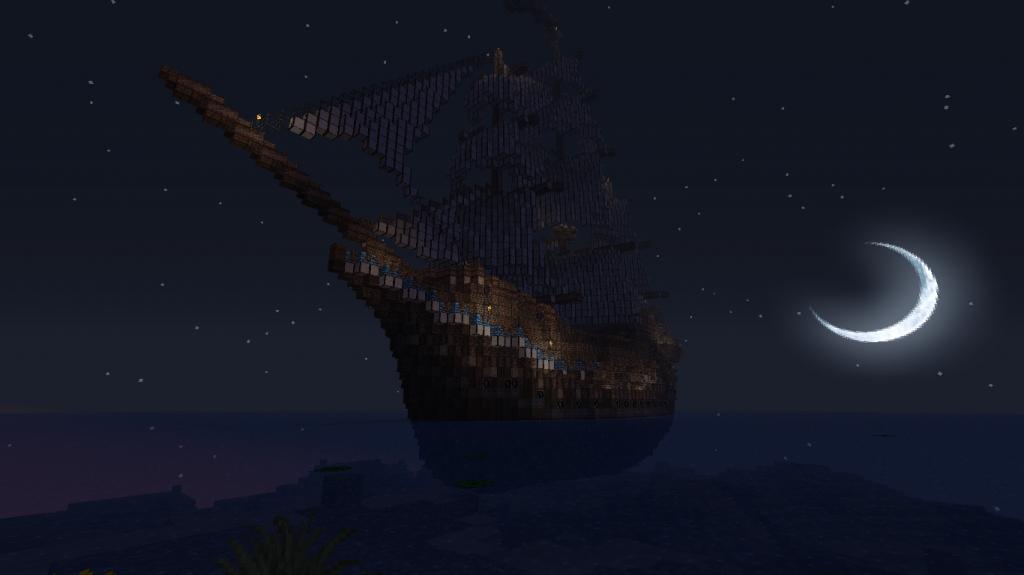 minecraft-map-village-médiéval-bateau