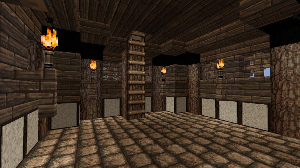 minecraft-map-village-médiéval-intérieur-maison