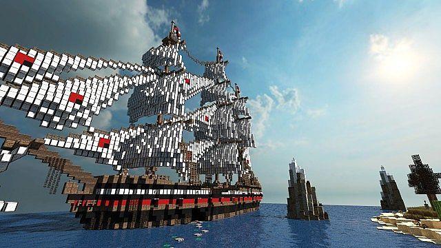 minecraft-map-ville-medievale-bateau