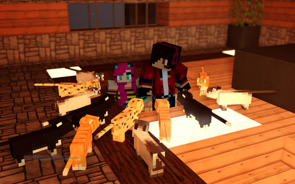 minecraft-wallpaper-personnalisable-chat