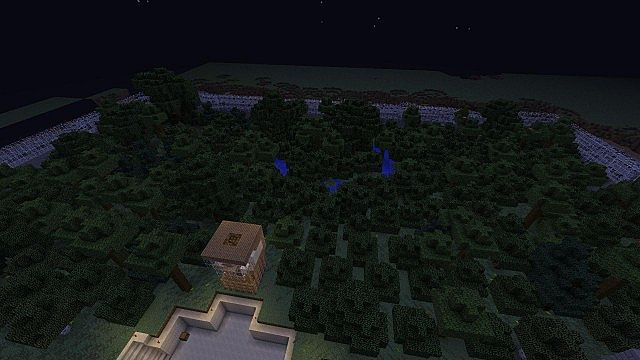 minecraft-map-ville-fantome-ghost-town-nature