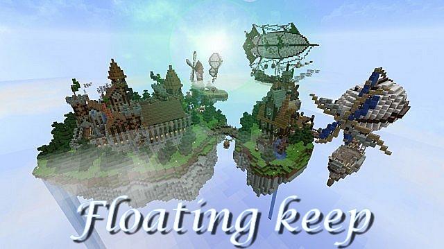 minecraft-map-ville-flotante-floating-keep