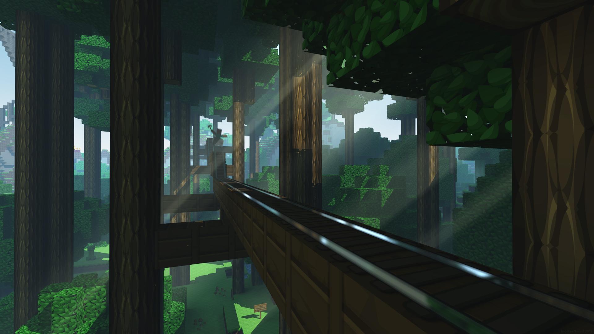 fond-d-écran-minecraft-rail