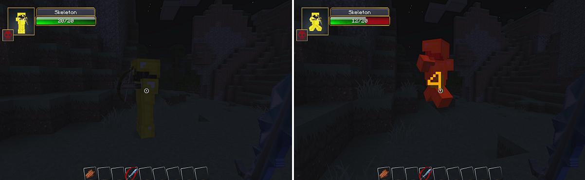 minecraft-mod-Damage Indicators-skeleton