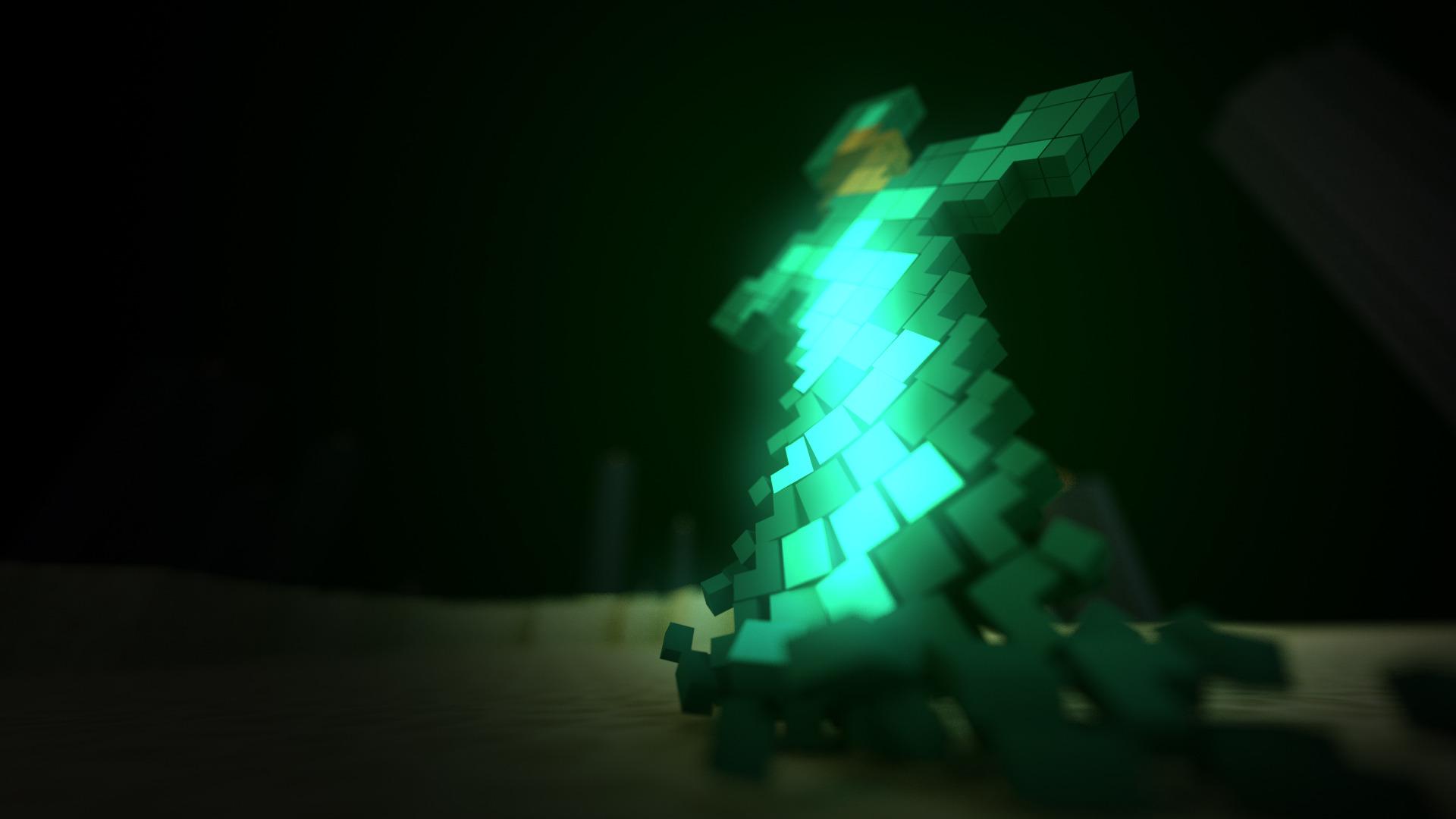 fond-d-écran-minecraft-epee-diamant
