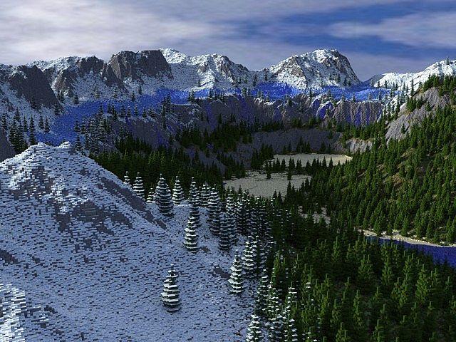 minecraft-aventure-map-speciale-noel-waterfalls