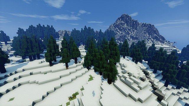 minecraft-map-custom-mountain-landscape-neige