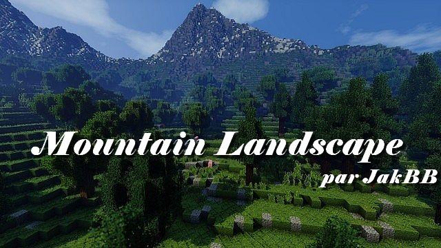 minecraft-map-customise-mountain-landscape