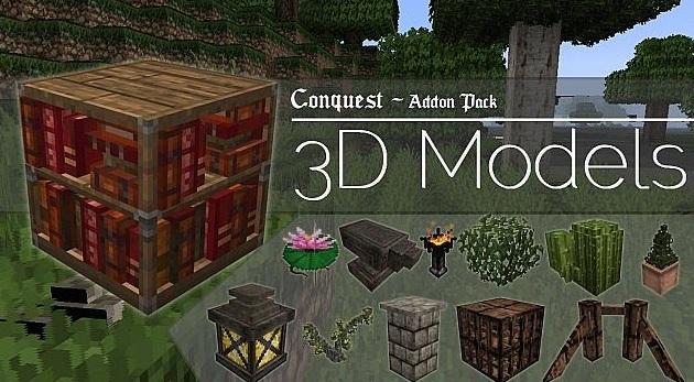 minecraft 3d model pack