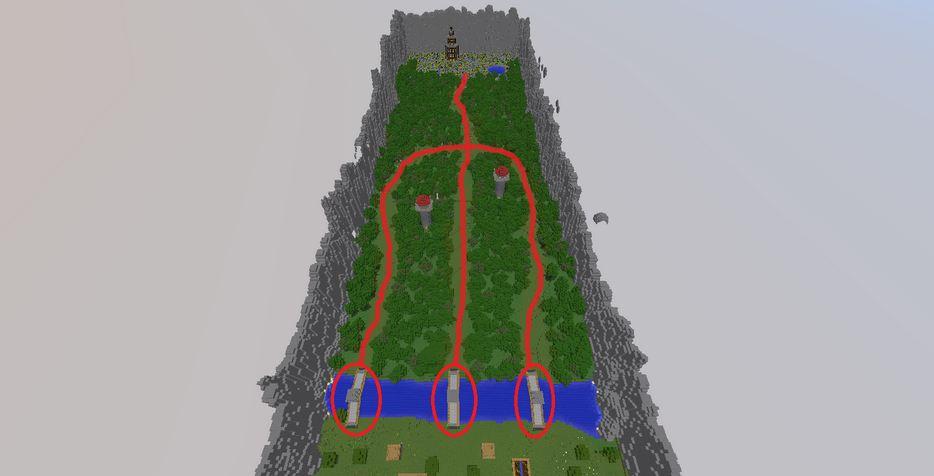 minecraft map pvp king defender arene de combat