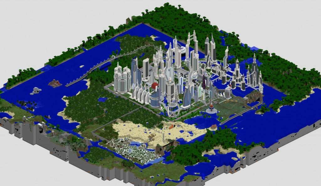 minecraft map ville future city avant l'attaque