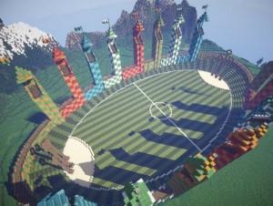 Quidditch Pitch Minecraft Minecraft, constructio...