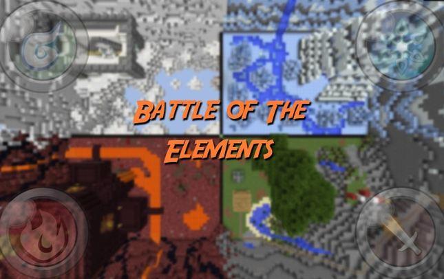 Minecraft map pvp 2-4 joueurs battle of the elements