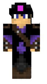2.minecraft skin elf prince noir
