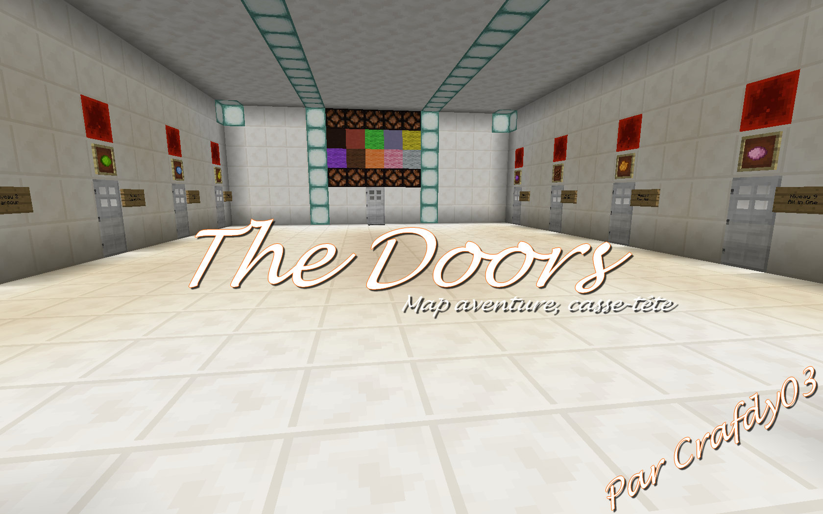 minecraft map aventure casse tête the doors