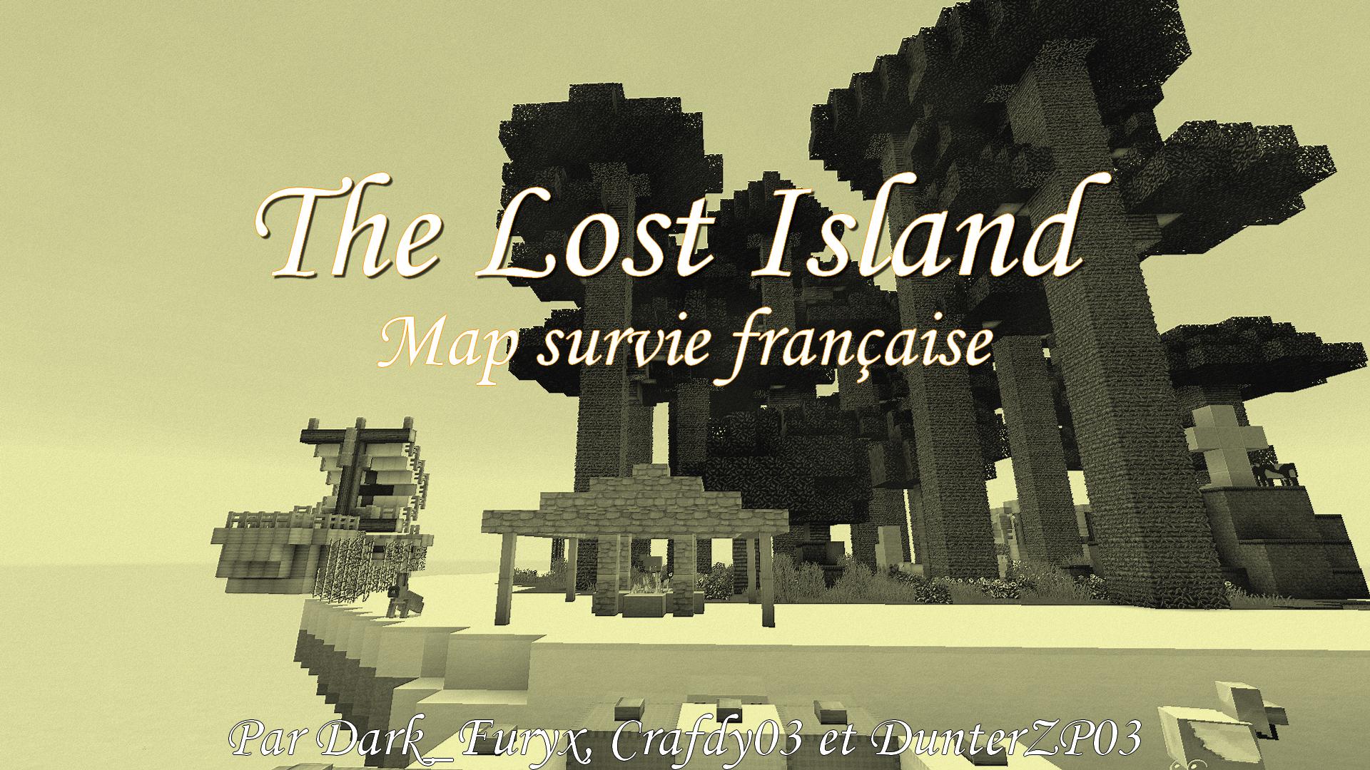 minecraft map survie française the lost island