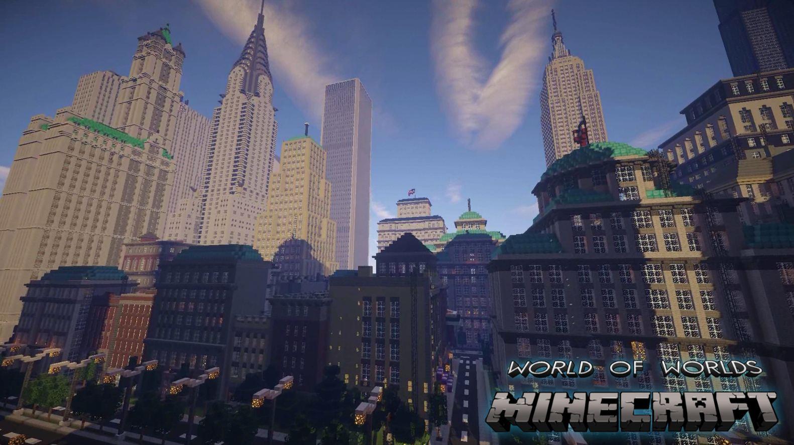 minecraft map monument impressionnant world of worlds gratte ciel