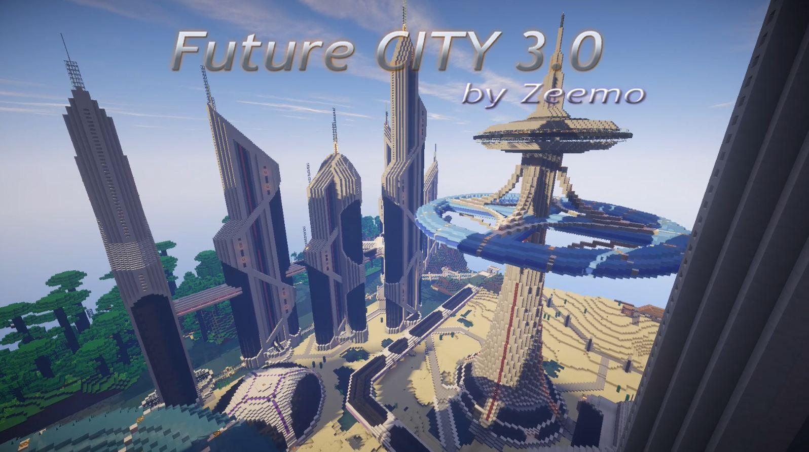 minecraft map ville future city 3.0 zeemo