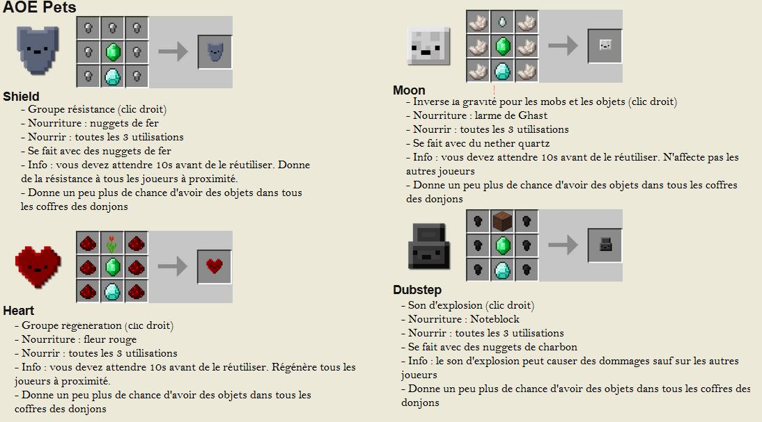 minecraft mod inventory pets AOE craft