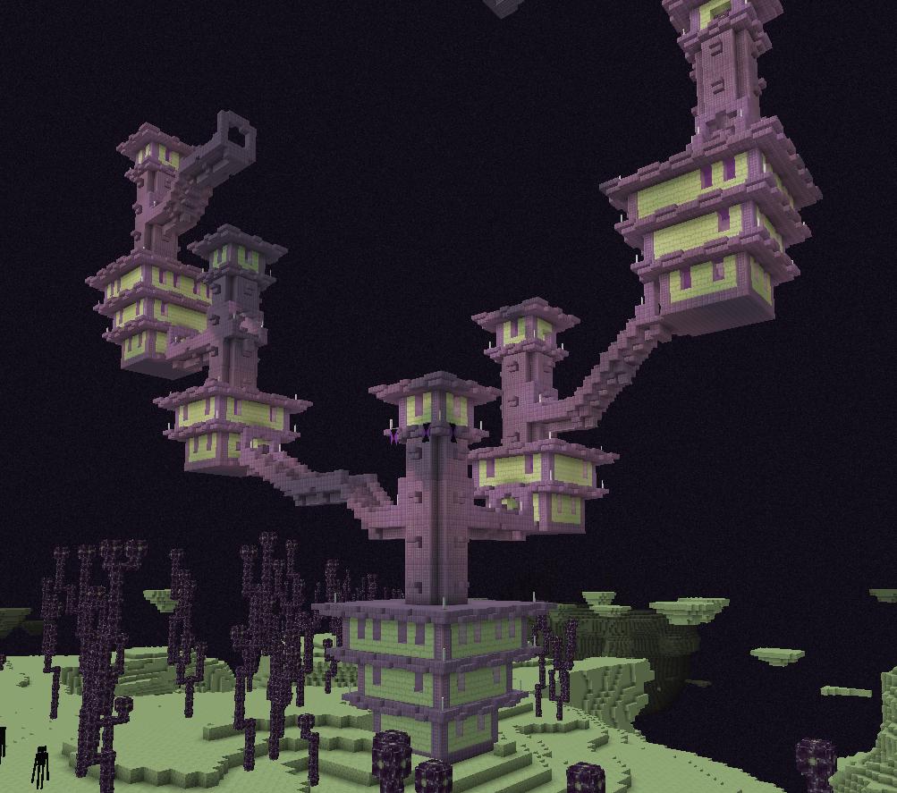 minecraft ville de l'ender
