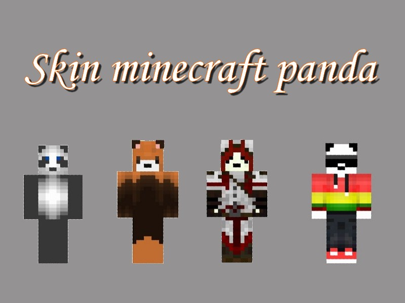 Minecraft Skin Panda Minecraft Aventurecom